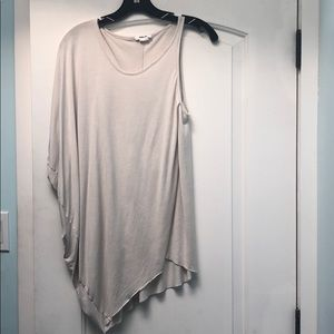 Helmut Lang side drape grey top sz M